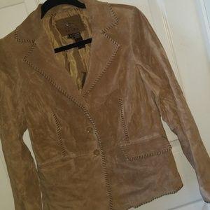 Authentic washable suede blazer